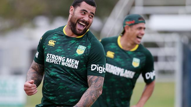 Andrew Fifita trains with the Prime Minister's XIII.