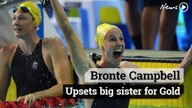 Bronte Campbell upsets big sister in the 100m freestyle