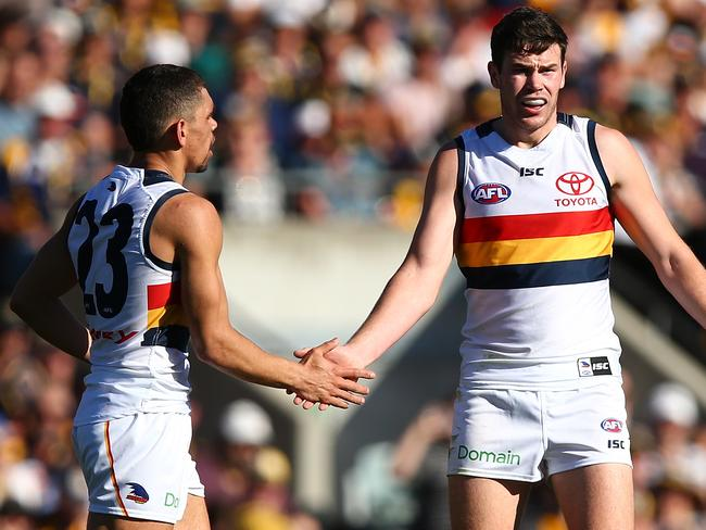 Mitch McGovern and Charlie Cameron rank in Adelaide's bottom six, which is a testament to the team's depth. (Photo by Paul Kane/Getty Images)