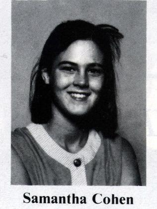 Samantha Cohen in her Brisbane All Hallows school yearbook, 1985.