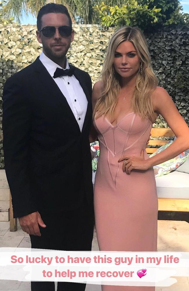 Sophie Monk and her new beau.