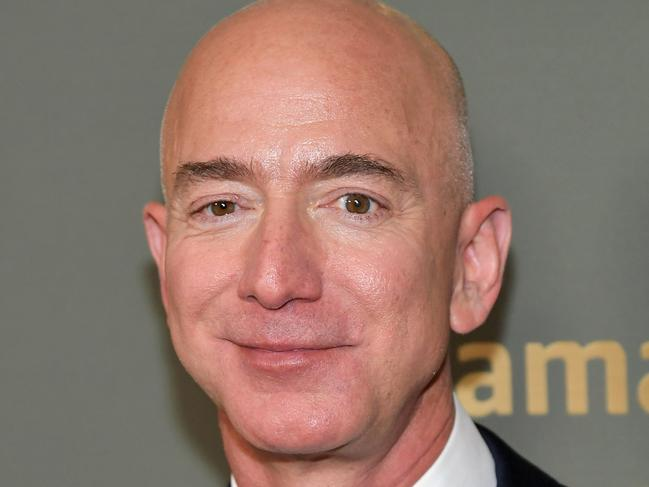 Mr Bezos allegedly nixed the space-exploration ad when his affair with Lauren Sanchez went public. Picture: AFP