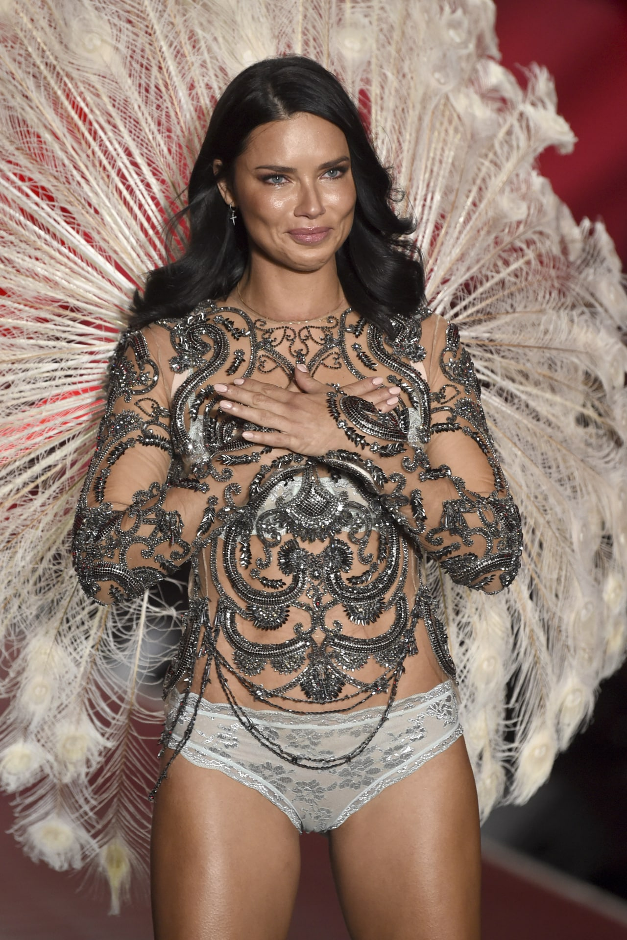 dce1a843a0 The other reason why Adriana Lima was so nervous before the 2018 Victoria s  Secret Fashion Show