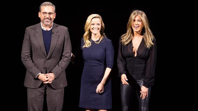 Steve Carell, Reese Witherspoon and Jennifer Aniston will star in one of the new shows. Photo by Noah Berger / AFP