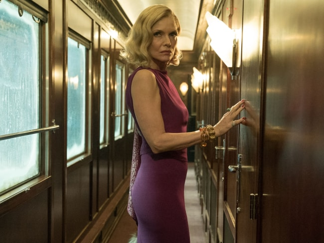 Michelle Pfeiffer in 'Murder on the Orient Express'. Photo: Twentieth Century Fox