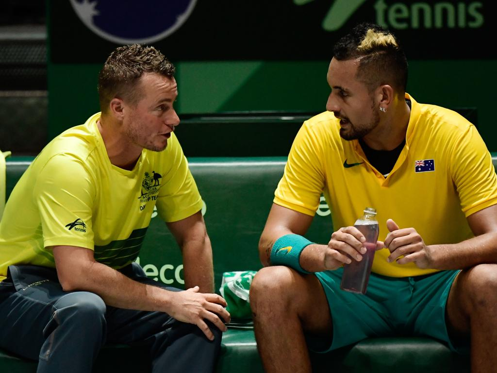 Having a coach in Lleyton Hewitt has helped Nick Kyrgios on the international stage.