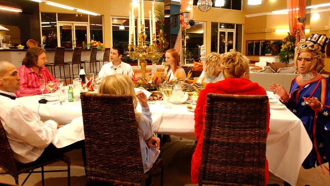 A Celebrity Big Brother dinner party.