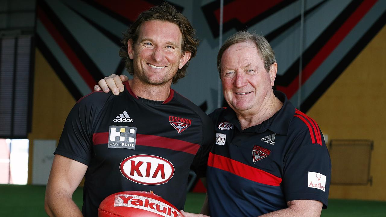 Kevin Sheedy says he'd be happy to welcome James Hird back to Essendon. Picture: Wayne Ludbey