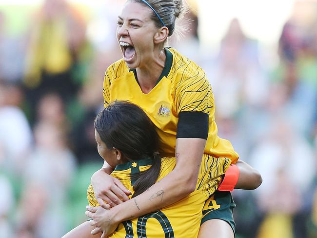 The Matildas made it out the group stage. The Socceroos haven't won a World Cup match since 2010.