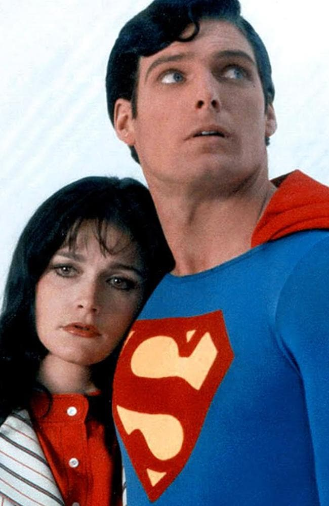 Margot Kidder in her most famous role, as Lois Lane alongside Christopher Reeve's Superman.