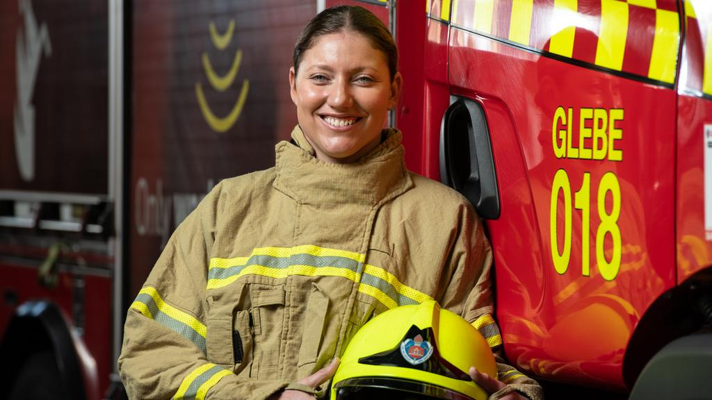 Glebe's Camilla Montague is 1 of 16 Sydney firefighter
