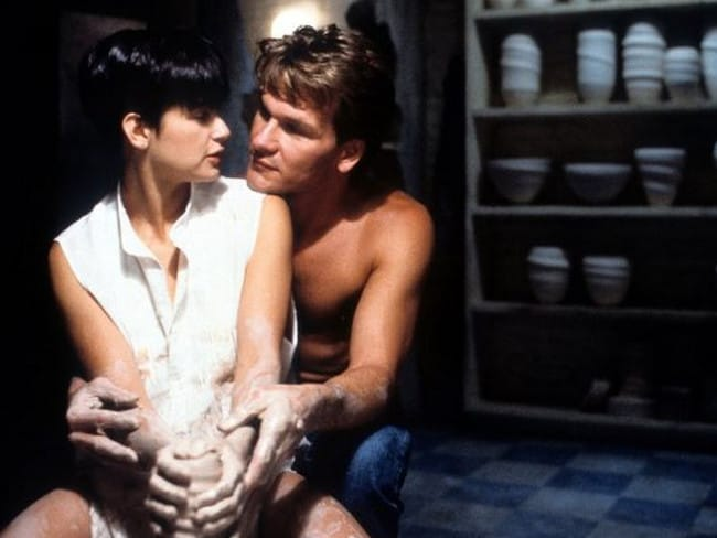 Demi Moore and Patrick Swayze in a scene from the blockbuster Ghost. Picture: Supplied