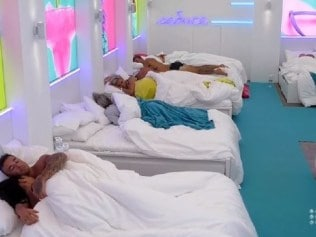 Love Island's cosy sleeping arrangements. Picture: Channel 9Source:Channel 9