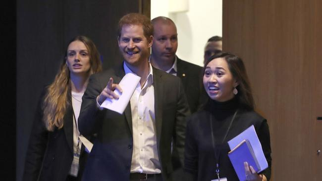 "He told the event's organisers to just call him ""Harry"". Picture: AP/Andrew Milligan"