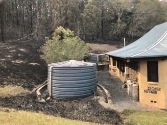 The November bushfires tore through Crowe's land in Nana Glen.