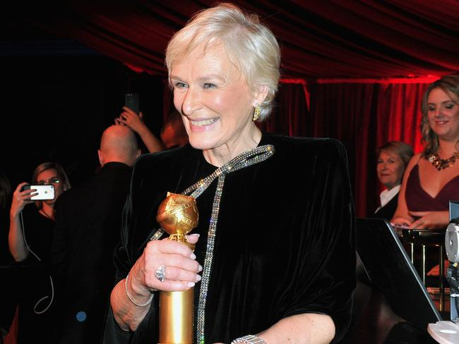 Glenn Close caused the night's other big upset when she beat Lady Gaga. Picture: Getty Images