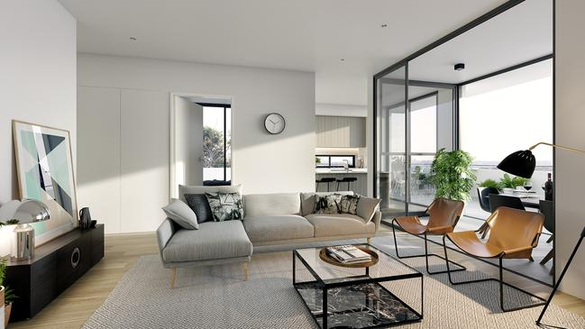 Buyers get open-plan living spaces with modern interiors.