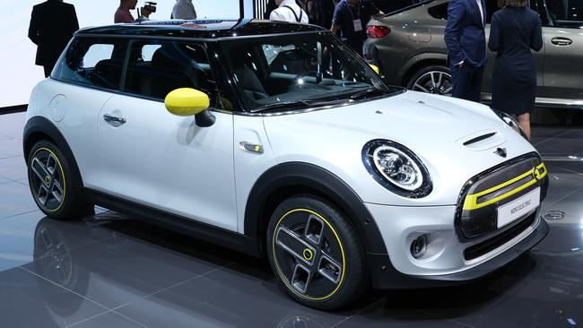 The Cooper SE made its public debut at this weeks Frankfurt motor show. (Photo by Sean Gallup/Getty Images)