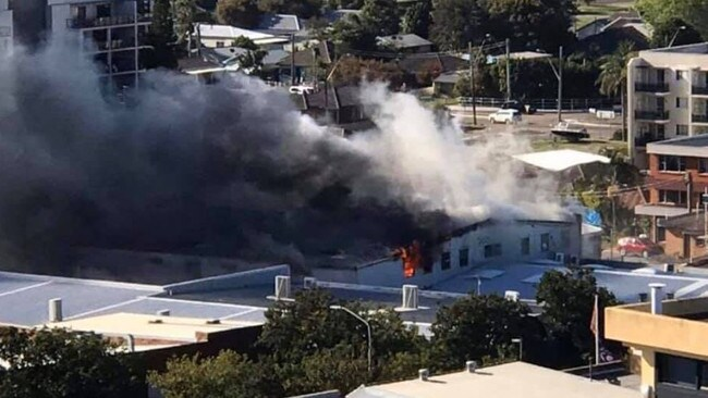A major fire broke out at a shopping centre at The Entrance.