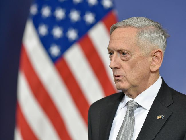 What is the fate of US Defence Minister James Mattis? Picture: AFP