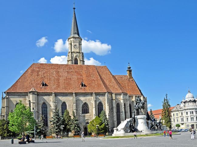 St Michael's Church sits in the centre of Cluj. Picture: Flickr/Dennis Jarvis