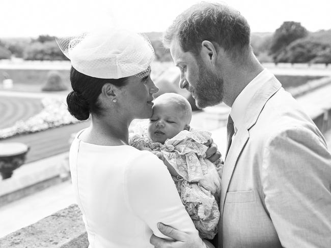 The official handout Christening photograph released by the Duke and Duchess of Sussex. Prince Harry and his wife Meghan had their baby son Archie christened at a private ceremony. Picture: Chris Allerton