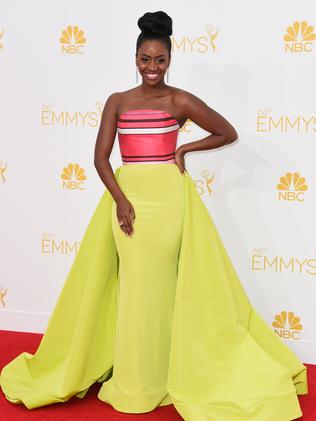 Teyonah Parris attends the 66th Annual Primetime Emmy Awards.