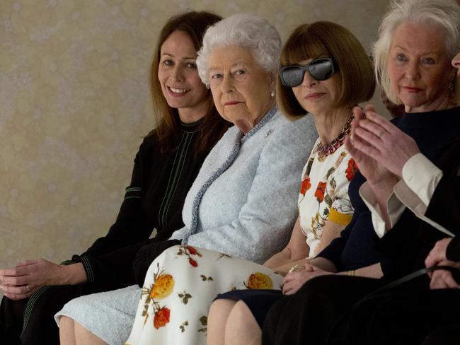 An unusual place to see the Queen. Picture: Yui Mok/AP