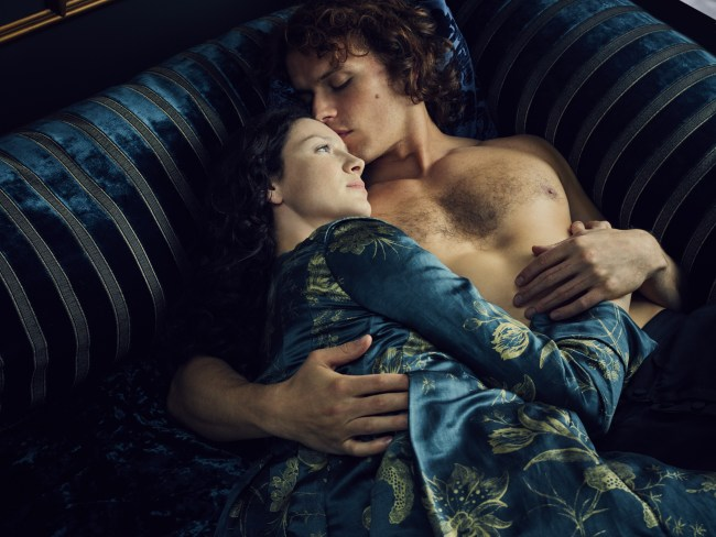 Catriona Balfe and Sam Heughan in 'Outlander.' Picture: Supplied