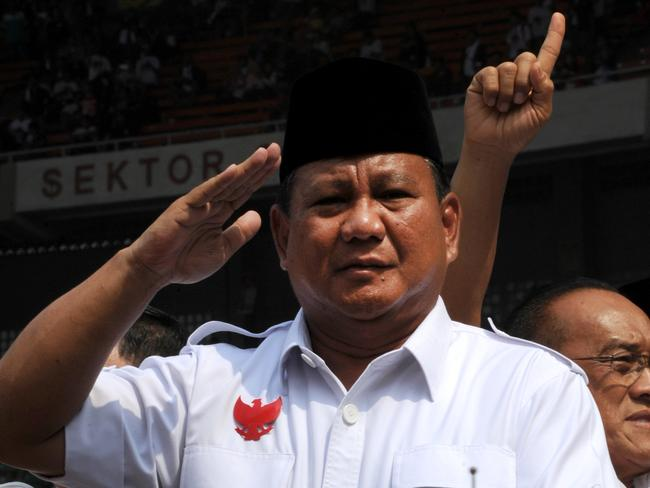 Questions over his past ... Indonesian presidential candidate Prabowo Subianto. Picture: Romeo Gacad