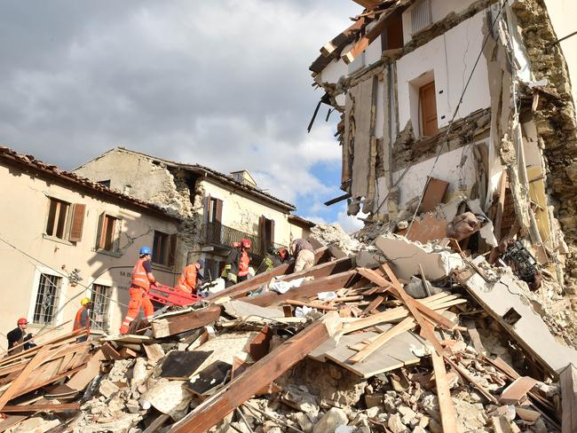 A family of four has been killed in the dramatic quake, including an eight-month old baby. Picture: Giuseppe Bellini/Getty Images.