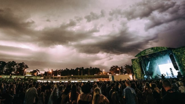 The storm builds over the Wine Machine festival. Picture: Hot Dub Instagram