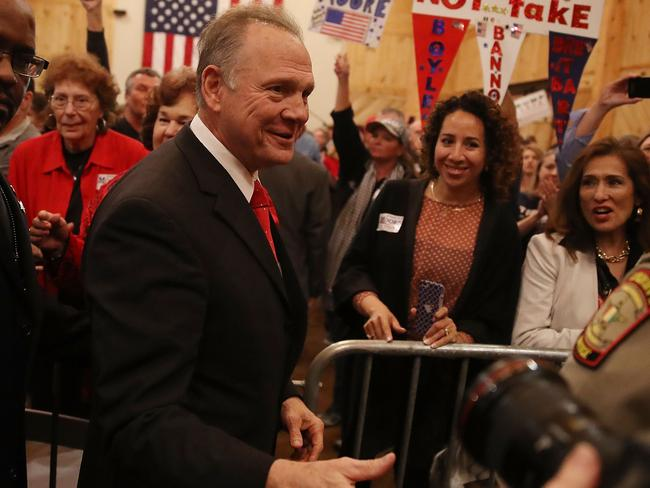 When it came to voting, most white women supported Roy Moore. Picture: Joe Raedle/Getty Images/AFP