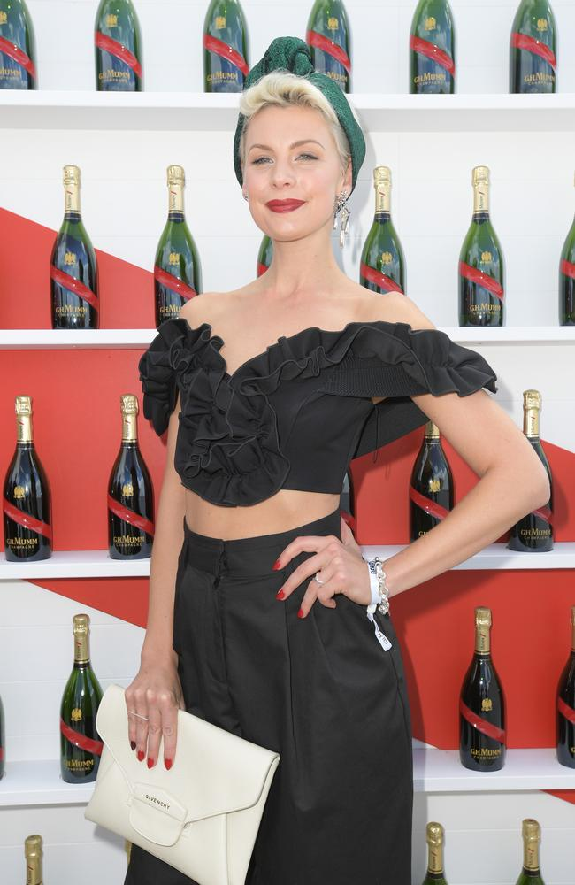 Kate Peck in the Mumm Marquee.