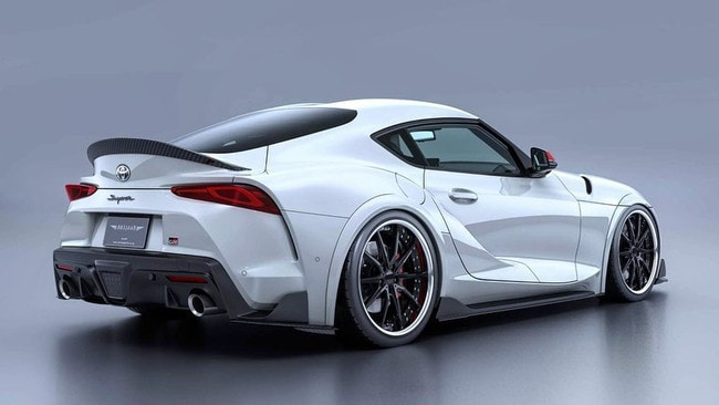 Milder versions of modded Supras will feature low suspension and bodywork extensions. Picture: Evasive Motorsports