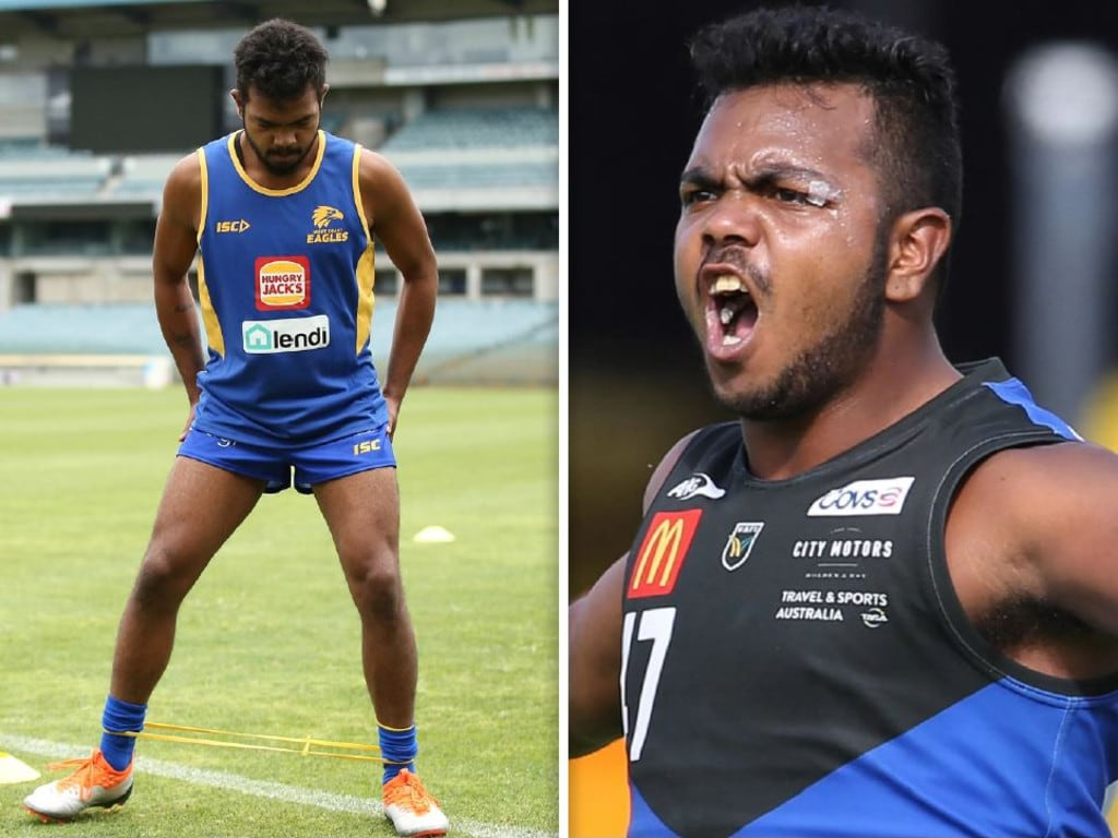 West Coast's Willie Rioli has trimmed down significantly.