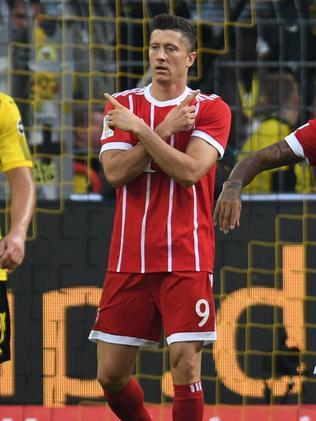 Bayern Munich's Polish striker Robert Lewandowski.