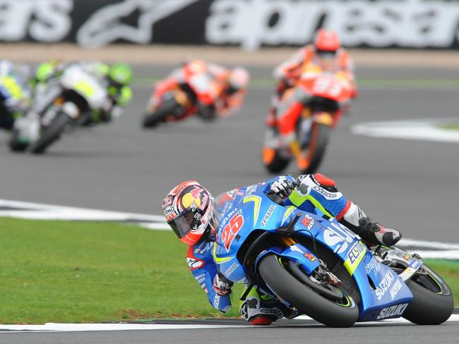 Vinales was in a class of his own in the restarted race.