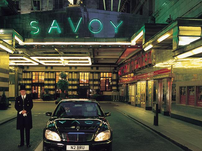 The Savoy Hotel in London is home to one of the city's best restaurants. Picture: Supplied