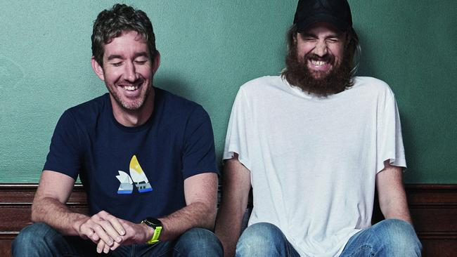Atlassian co-founders Scott Farquhar and Mike Cannon-Brookes are Australia's fifth and sixth-wealthiest people. Picture: Harold David