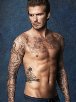 David Beckham is not known for his acting skills. Picture: Supplied
