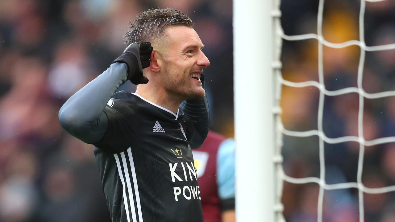 Jamie Vardy scored in his eighth consecutive game.