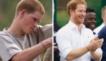 Harry never takes off the silver-brown bracelet. Image: Getty.