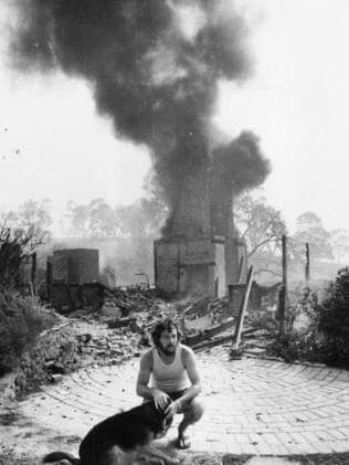Ron Rowes loses his historic home in the 1983 Ash Wednesday bushfires.
