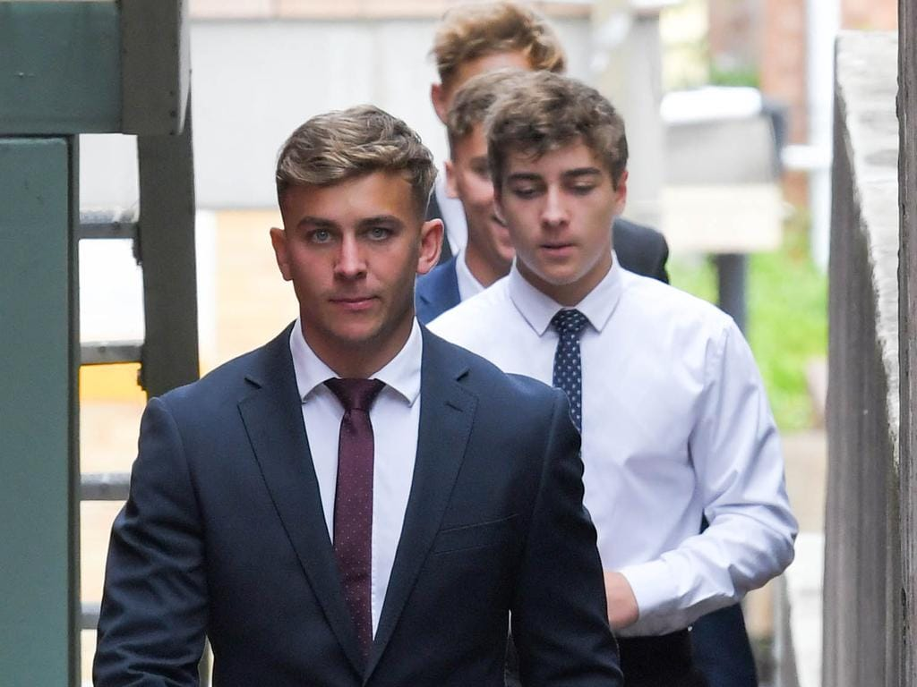 Callan Sinclair arrives at Wollongong Court House. Picture: NCA NewsWire/Simon Bullard.