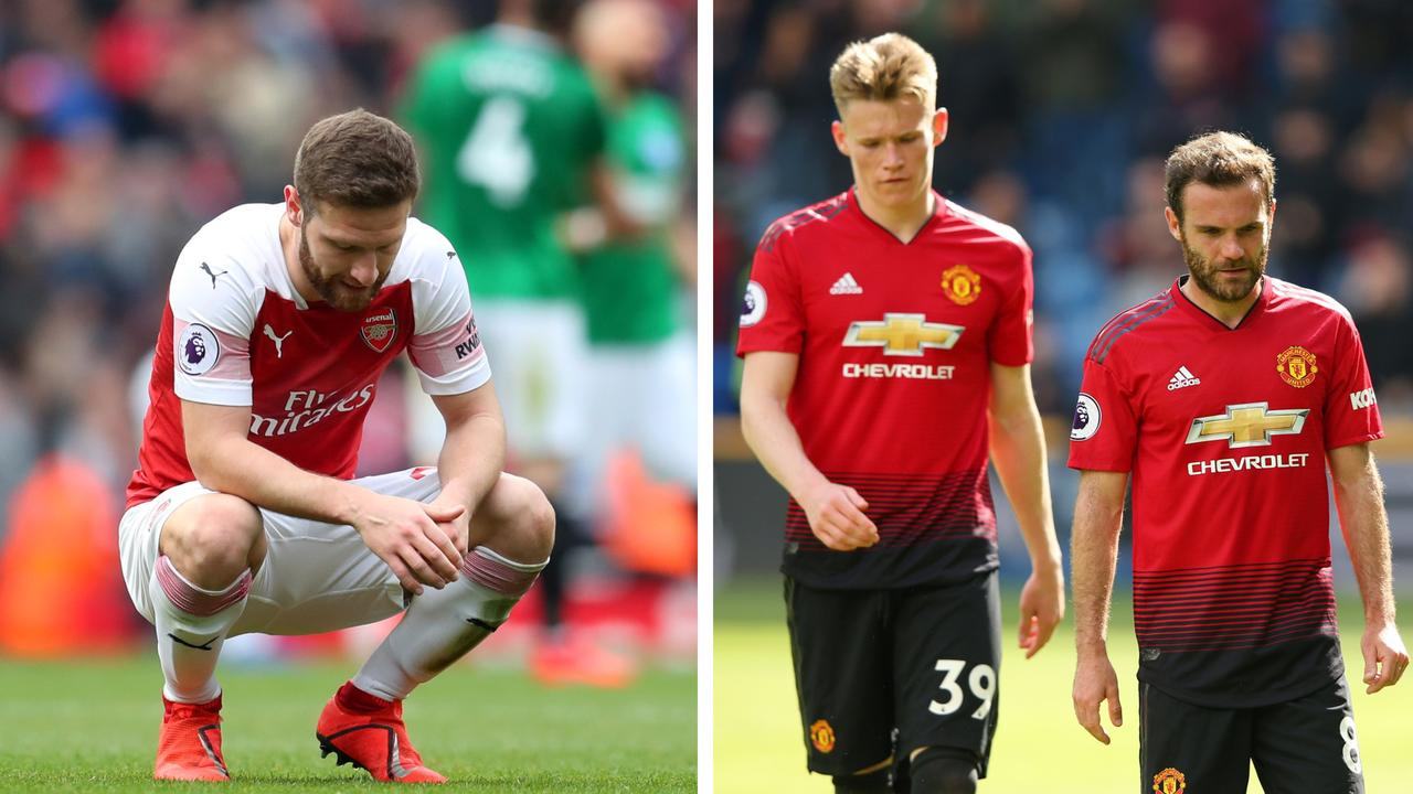 Manchester United and Arsenal have had their Champions League hopes dashed