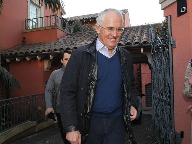Prime Minster Malcolm Turnbull had a huge solar system installed at his Point Piper mansion last year. Picture: Hollie Adams/The Australian