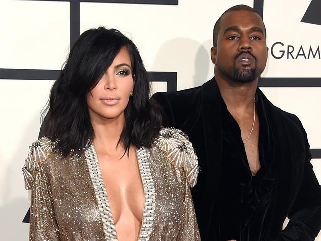 Power couple ... Kim Kardashian and Kanye West on the red carpet s at the STAPLES Center in Los Angeles. Picture: Jason Merritt/Getty Images