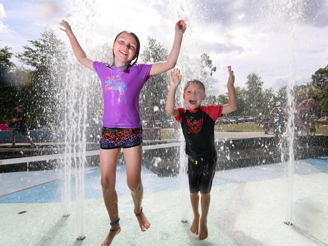 Seville Water Park is quick way to keep the kids cool over summer. Picture: Alex Coppel.