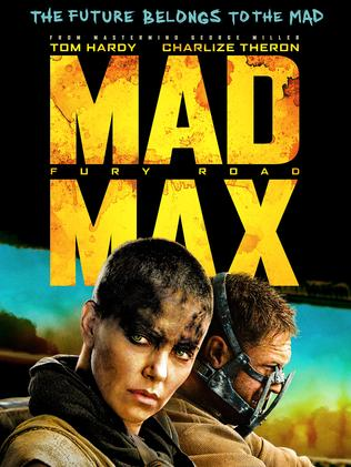 Poster for Mad Max Fury Road starring Tom Hardy & Charlize Theron.